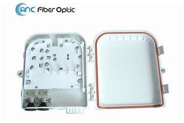 Outdoor Wall Mount Fiber Optic Termination Boxes 8 Port for 1x4 1x8 PLC Splitter