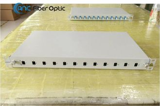 "19"" 1U Slidable Fiber Optic Patch Panel With SC DSC LC FC ST MPO Adapter Port"
