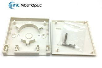 2 Port Fiber Optic Termination Boxes SC Simplex SM MM FTTH Fiber Optic Wall Plate Outlet