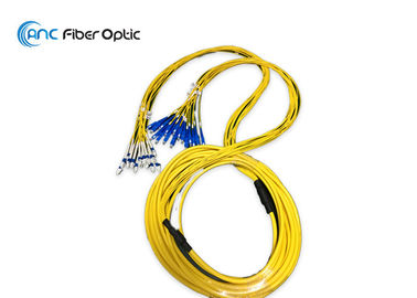 Low Insertion Loss Fiber Optic Patch Cable 12 16 Core With 2.0mm SM SC LC Connector