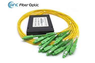 China High Performance Fiber Optic PLC Splitter , 2.0mm SCAPC Optical Wire Splitter factory