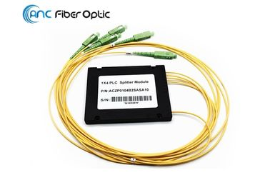 China 2.0mm SCAPC Fiber Optic Splitter 1x4 ABS Box 100x80x10mm For Test Equipment factory