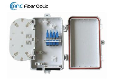 IP65 FTTH Fibre Optic Cable Termination Boxes 4 Core Outdoor Wall Mount