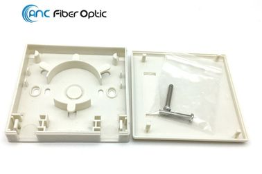 China 2 Port Fiber Optic Termination Boxes SC Simplex SM MM FTTH Fiber Optic Wall Plate Outlet factory